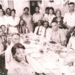 Lewis Tucker in back left with his wife's family